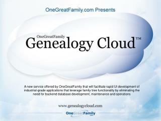 Genealogy Cloud Summary
