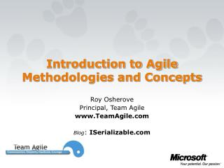Introduction to Agile Methodologies and Concepts