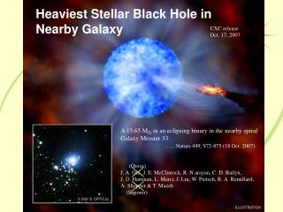 Heaviest Stellar Black Hole in Nearby Galaxy