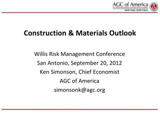 Construction & Materials Outlook