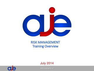 RISK MANAGEMENT Training Overview