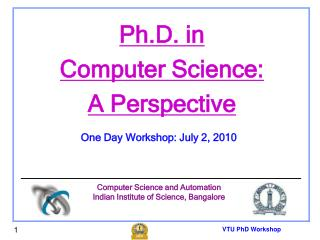 VTU PhD Workshop