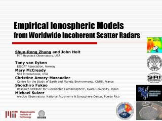 Empirical Ionospheric Models  from Worldwide Incoherent Scatter Radars