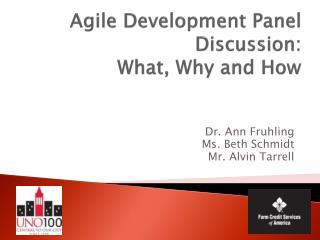 Agile Development Panel Discussion:  What, Why and How