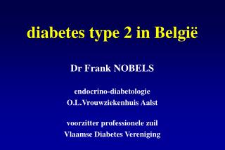 diabetes type 2 in België