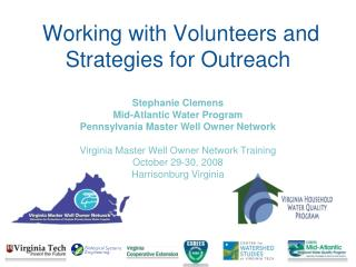 Working with Volunteers and Strategies for Outreach