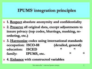 IPUMS i  integration principles