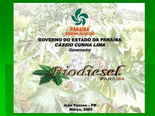 João Pessoa – PB Março, 2005