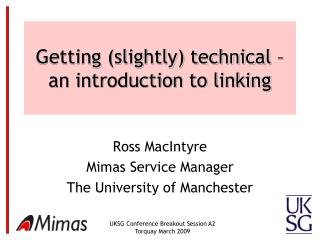 Getting (slightly) technical – an introduction to linking