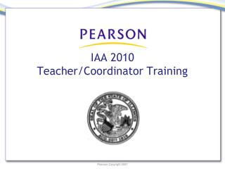 IAA 2010  Teacher/Coordinator Training