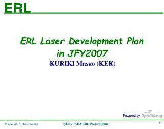 ERL Laser Development Plan in JFY2007 KURIKI Masao (KEK)