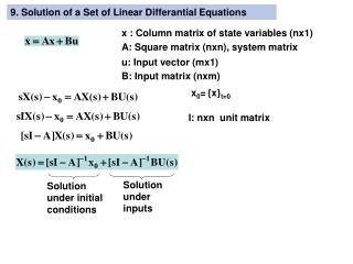 9. Solution of a Set of Linear Differantial Equations