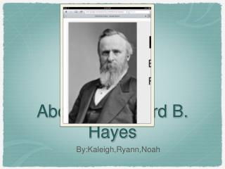 About Rutherford B. Hayes