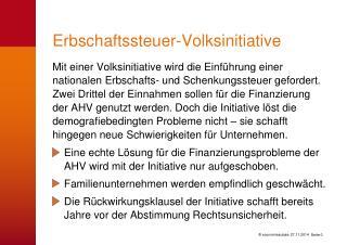 Erbschaftssteuer-Volksinitiative