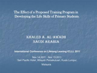 The Effect of a Proposed Training Program in Developing the Life Skills of Primary Students