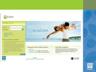 "Current myCIGNA: Tab titled ""My Health"" (replaces ""Health Resources/WebMD"")"