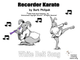 White Belt Song