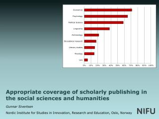 Appropriate coverage of scholarly publishing in the social sciences and humanities