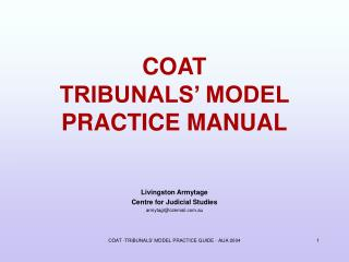 COAT TRIBUNALS' MODEL PRACTICE MANUAL