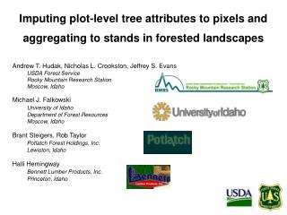 Imputing plot-level tree attributes to pixels and aggregating to stands in forested landscapes
