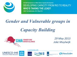 Gender and Vulnerable groups in Capacity Building