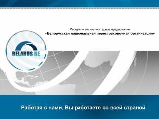 Республиканское унитарное предприятие « Белорусская национальная перестраховочная организация»