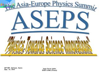 The Asia-Europe Physics Summit
