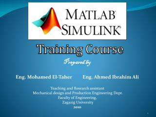 Prepared by  Eng. Mohamed El- Taher          Eng. Ahmed Ibrahim Ali