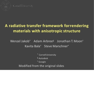 A discussion of Radiative Transfer Models