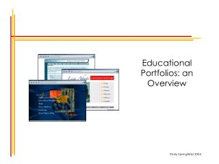 Educational Portfolios: an Overview