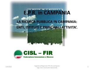 E.P.R. in CAMPANIA
