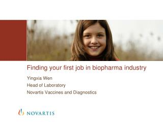 Finding your first job in  biopharma  industry
