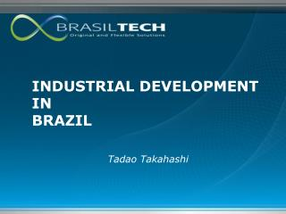 INDUSTRIAL DEVELOPMENT IN BRAZIL
