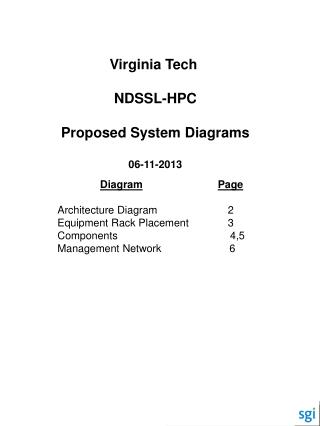 Virginia Tech  NDSSL-HPC Proposed System Diagrams 06-11-2013