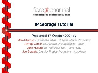 IP Storage Tutorial