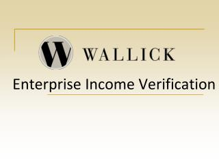 Enterprise Income Verification