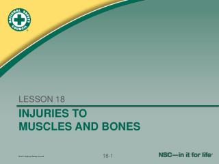 INJURIES TO MUSCLES AND BONES