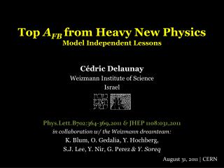 Top  A FB from Heavy  New  Physics Model Independent  Lessons