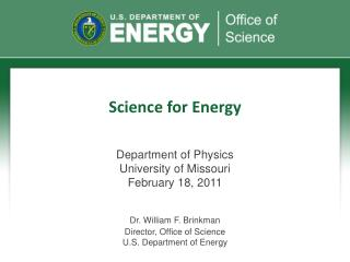 Science for Energy