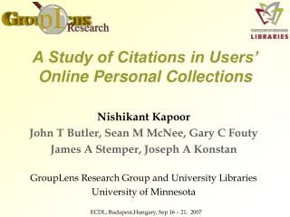 A Study of Citations in Users' Online Personal Collections
