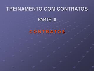 TREINAMENTO COM CONTRATOS