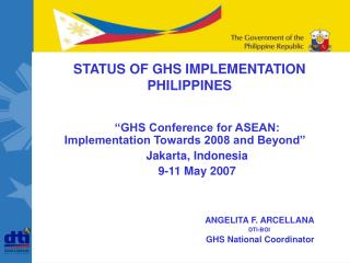 STATUS OF GHS IMPLEMENTATION  PHILIPPINES