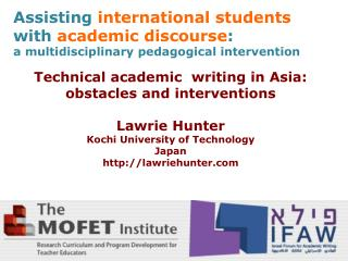 Assisting international students with  academic discourse :
