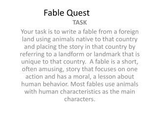 Fable Quest