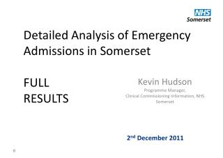 Detailed Analysis of Emergency Admissions in Somerset FULL RESULTS