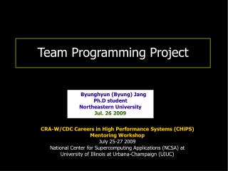 Team Programming Project