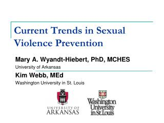 Current Trends in Sexual Violence Prevention