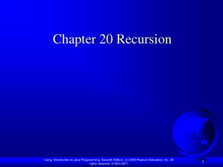 Chapter 20 Recursion