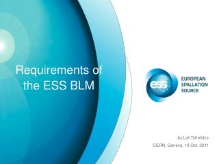 Requirements of the ESS BLM