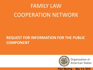 REQUEST FOR INFORMATION FOR THE PUBLIC COMPONENT